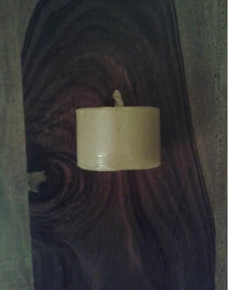 EKO-BARĆ Świeca z wosku pszczelego walec szeroki niski