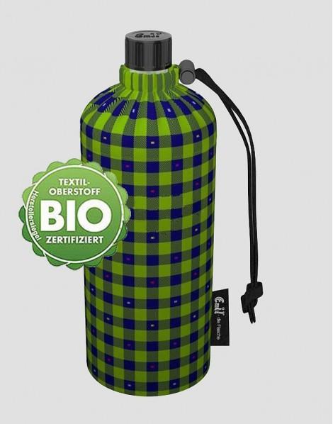 EMIL Ekologiczna butelka w kratkę 400 ml