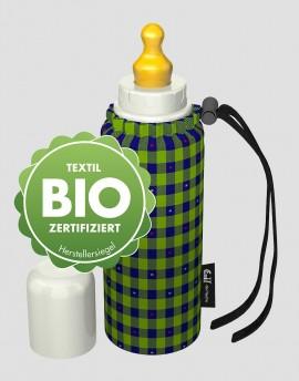 EMIL Ekologiczna butelka ze smoczkiem w kratkę 250 ml