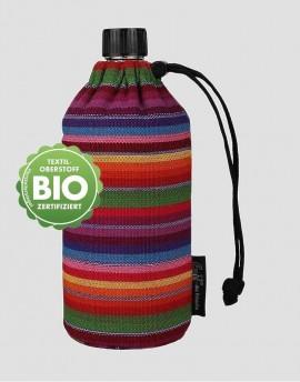 EMIL Ekologiczna butelka w kolorowe paski 400 ml szeroka szyjka