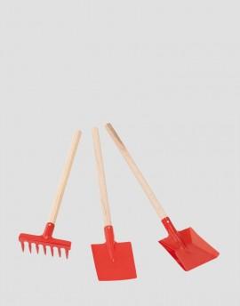 REDECKER Metalowy zestaw małego ogrodnika czerwony