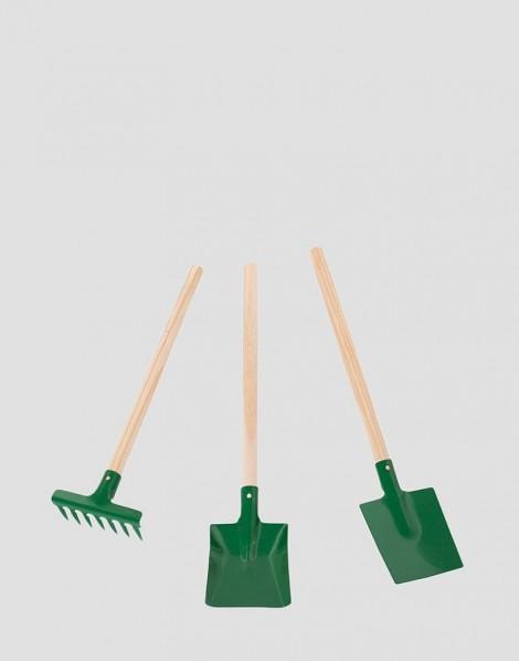 REDECKER Metalowy zestaw małego ogrodnika zielony