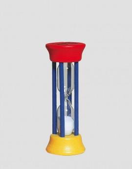 REDECKER Drewniana klepsydra 2-minutowa czerwono-żółto-niebieska