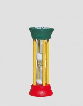 REDECKER Drewniana klepsydra 2-minutowa zielono-czerwono-żółta