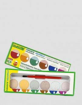 ÖKONORM Naturalne farby akwarelowe 6 kolorów