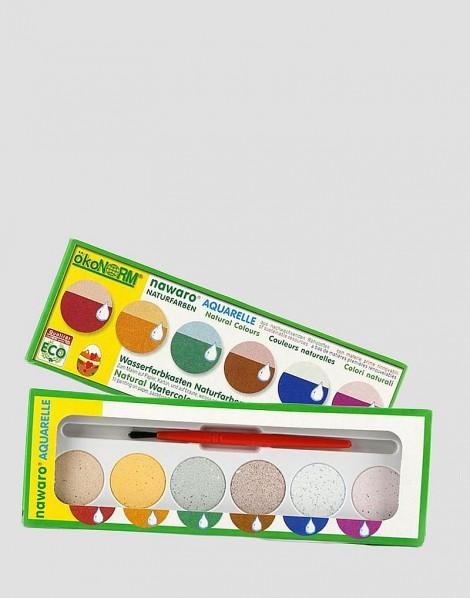 ÖKONORM Ekologiczne farby akwarelowe 6 kolorów
