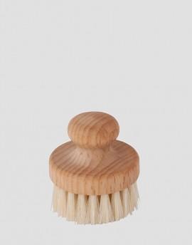 REDECKER Drewniana szczotka do twarzy naturalna okrągła