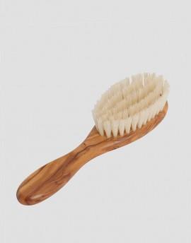REDECKER Drewniana szczotka do włosów dla dziecka naturalna 5-rzędowa oliwka