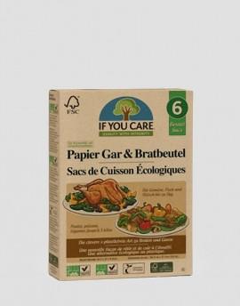 IF YOU CARE Ekologiczny rękaw do pieczenia 6 szt.