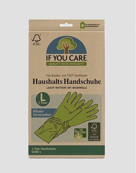 IF YOU CARE Ekologiczne rękawice L 1 para