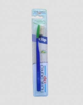MONTE-BIANCO Ekologiczna szczoteczka do mycia zębów dla dorosłego miękka natura niebieska