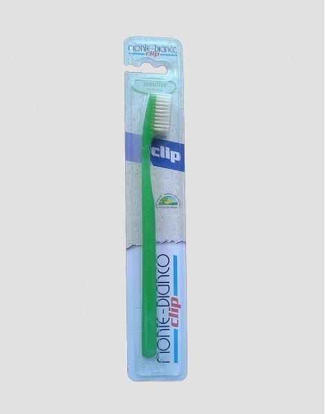 MONTE-BIANCO Ekologiczna szczoteczka do mycia zębów dla dorosłego miękka natura zielona