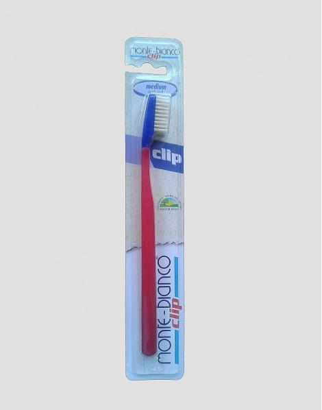 MONTE-BIANCO Ekologiczna szczoteczka do mycia zębów dla dorosłego twarda natura czerwona