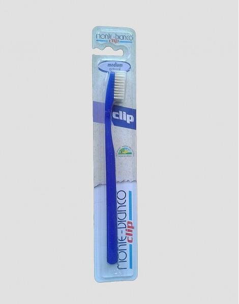 MONTE-BIANCO Ekologiczna szczoteczka do mycia zębów dla dorosłego twarda natura niebieska