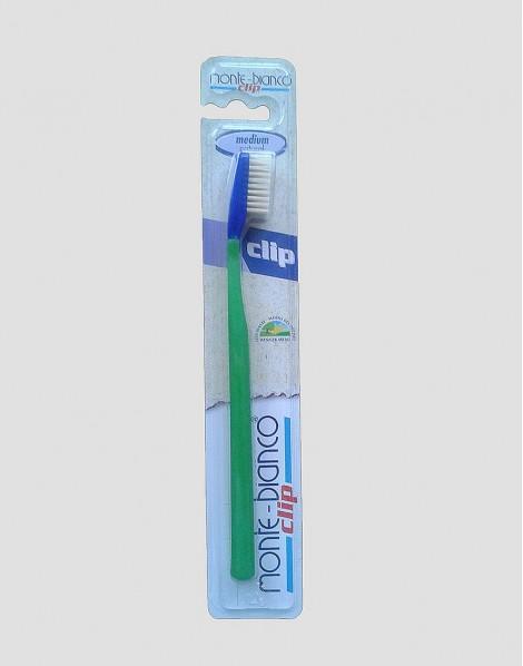 MONTE-BIANCO Ekologiczna szczoteczka do mycia zębów dla dorosłego twarda natura zielona