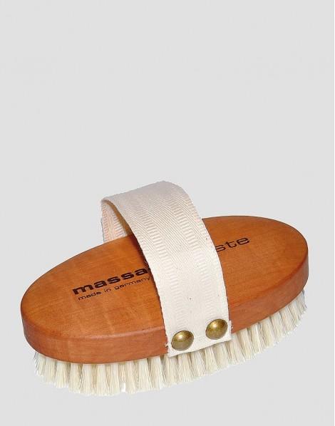 REDECKER Drewniana szczotka do masażu ciała naturalna grusza