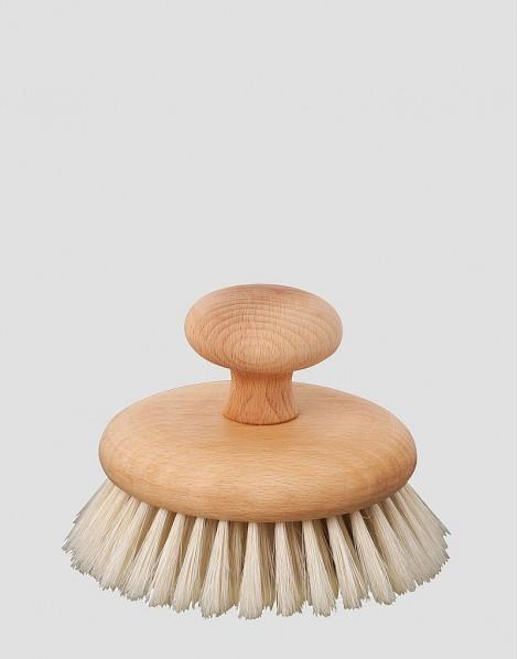 REDECKER Drewniana szczotka do masażu ciała z uchwytem naturalna