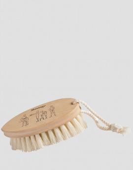 REDECKER Drewniana szczotka do masażu ciała na sucho roślinna