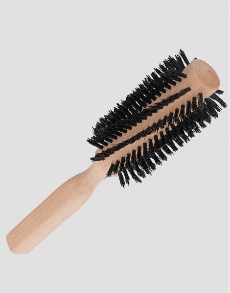 REDECKER Drewniana szczotka do włosów z dzika 10-rzędowa okrągła 5 cm