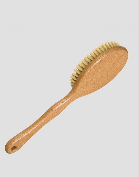 REDECKER Drewniana szczotka do masażu ciała z rączką naturalna